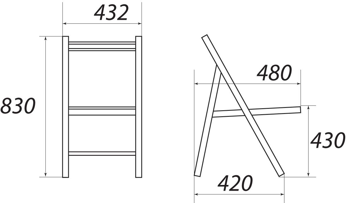 Складной стул со спинкой своими руками схема 776